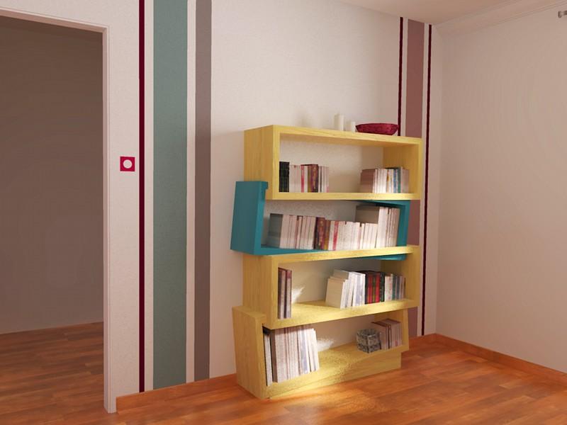 fabriquer bibliotheque bois maison design. Black Bedroom Furniture Sets. Home Design Ideas