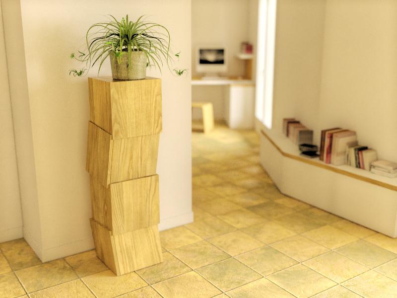 Petit meuble biscornu damien jorrand l 39 atelier de design for Petit meuble de rangement design